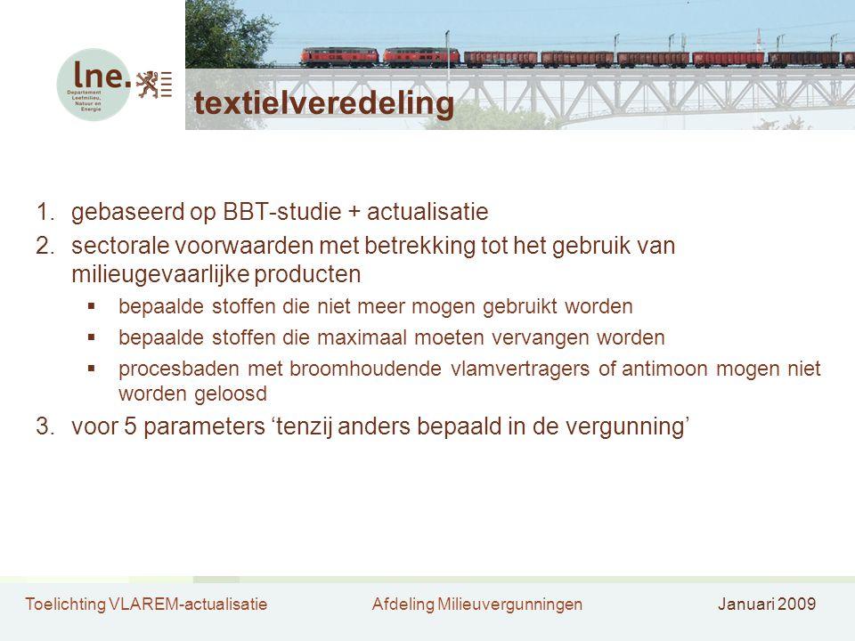 textielveredeling gebaseerd op BBT-studie + actualisatie
