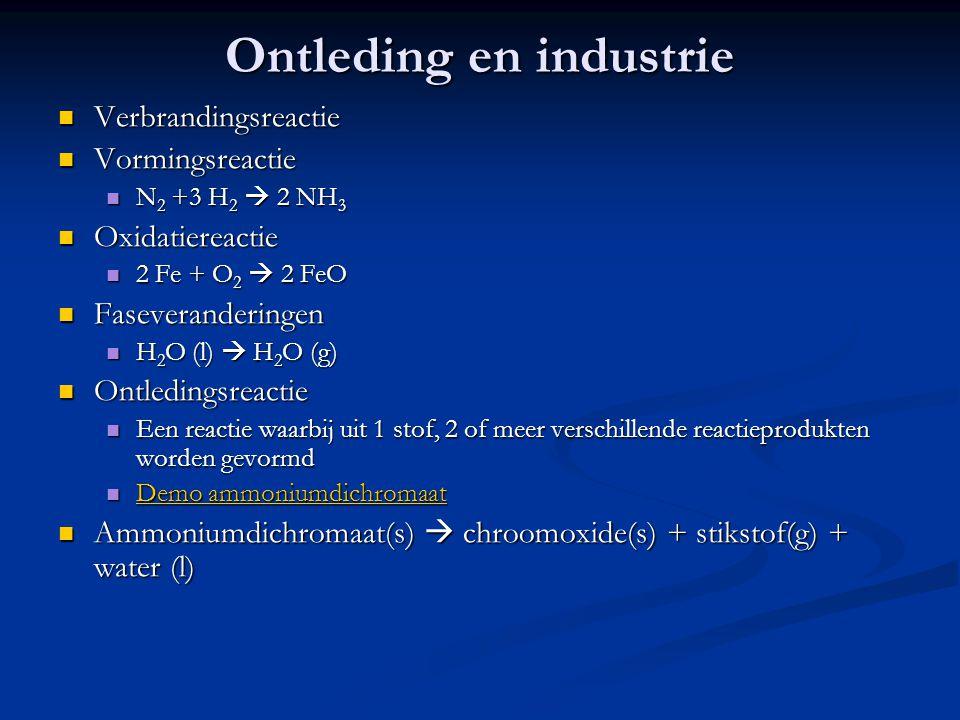 Ontleding en industrie