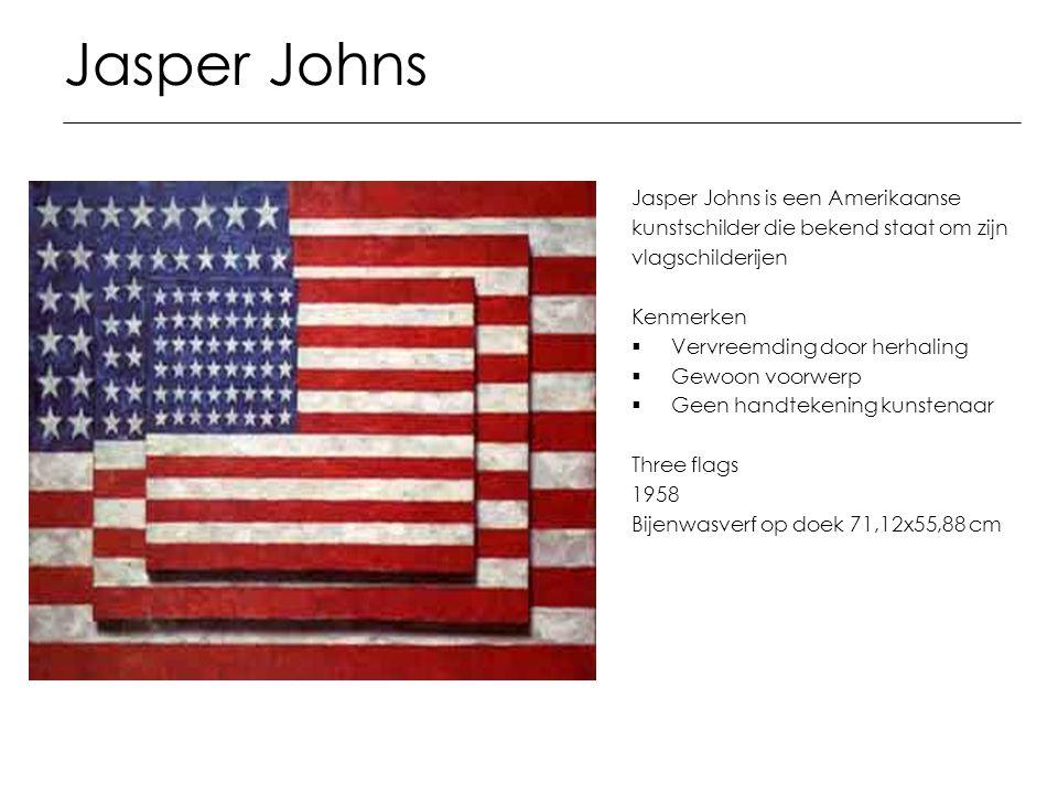 Jasper Johns Jasper Johns is een Amerikaanse