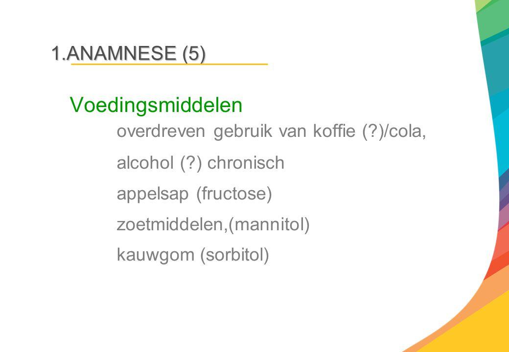 Voedingsmiddelen overdreven gebruik van koffie ( )/cola,