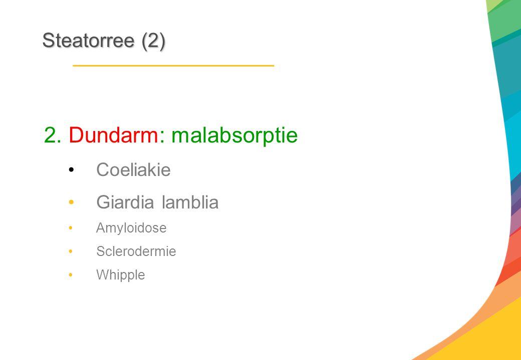 2. Dundarm: malabsorptie