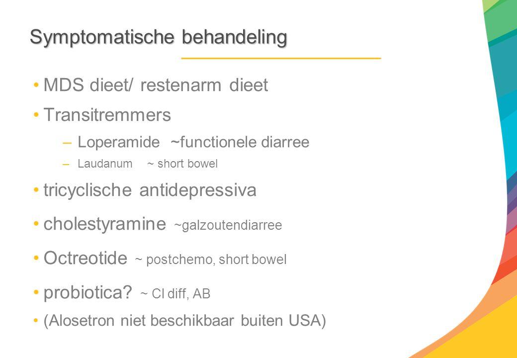 Symptomatische behandeling