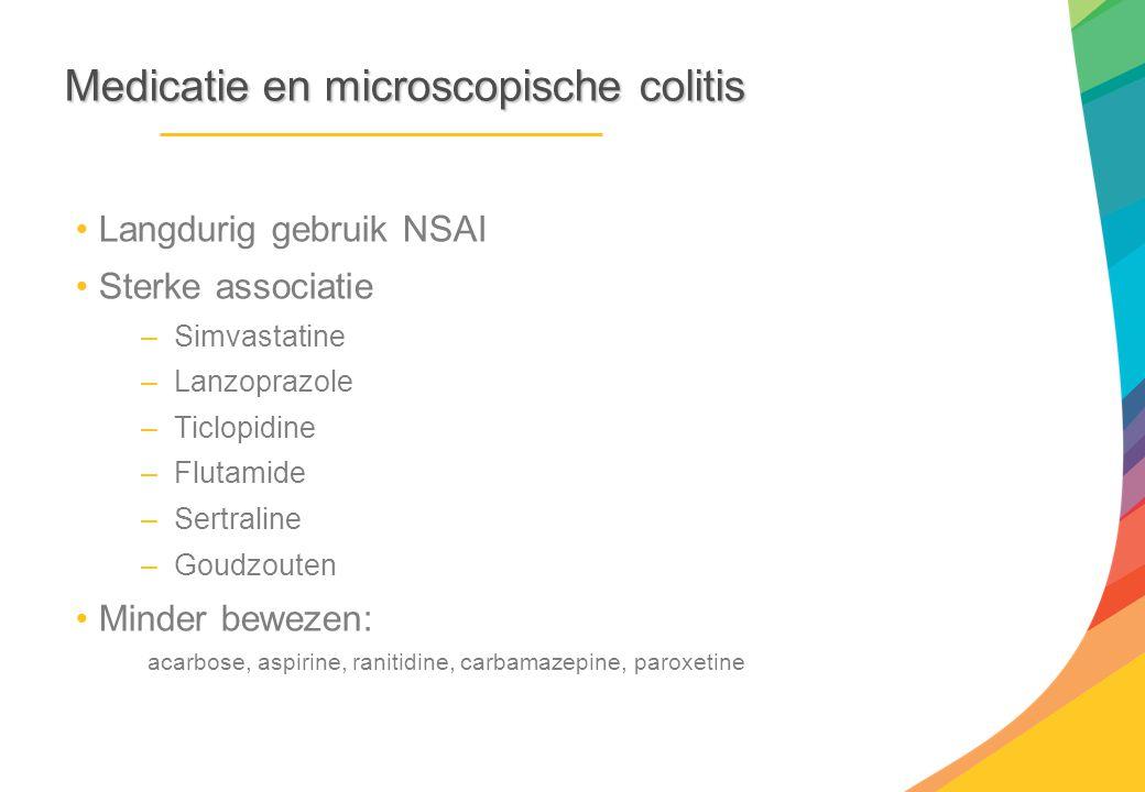 Medicatie en microscopische colitis