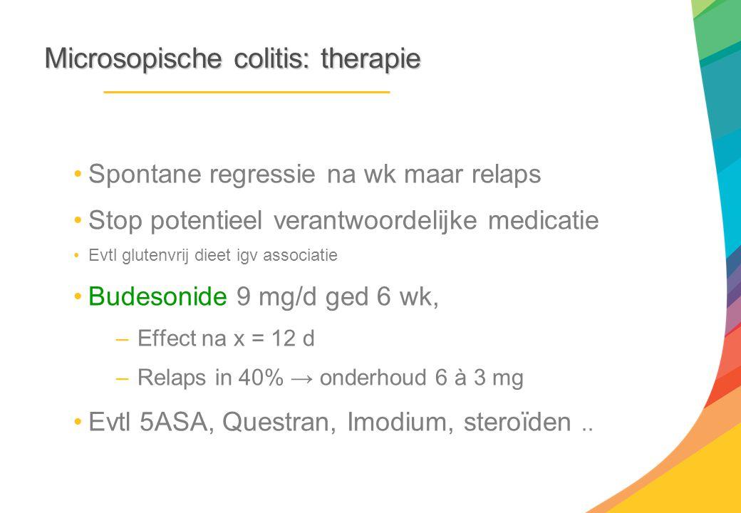 Microsopische colitis: therapie