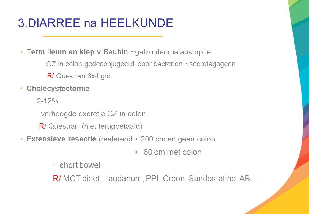 3.DIARREE na HEELKUNDE = short bowel