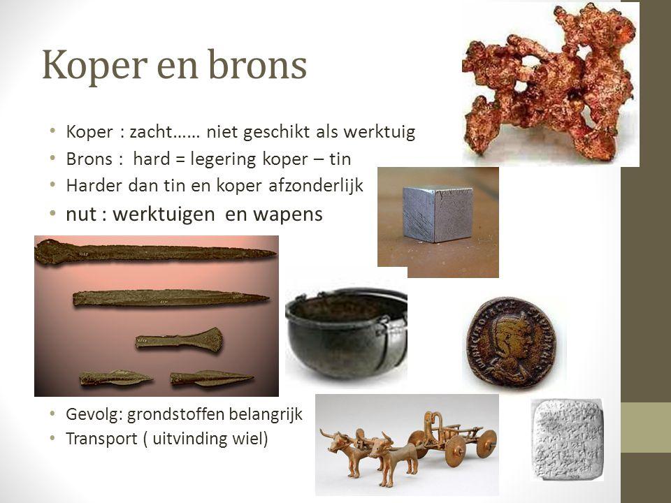 Koper en brons nut : werktuigen en wapens