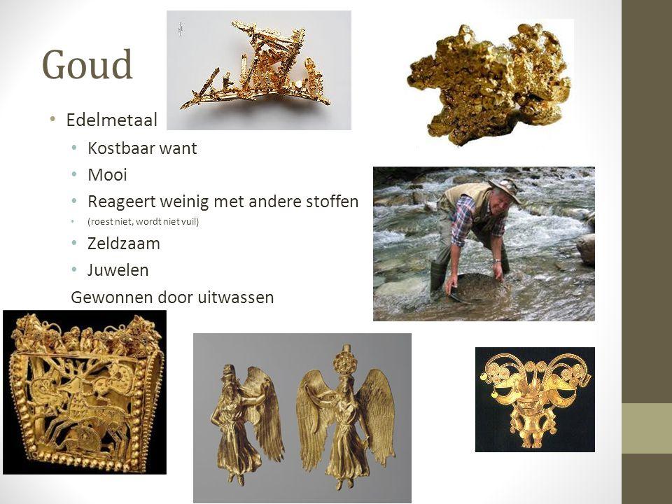 Goud Edelmetaal Kostbaar want Mooi Reageert weinig met andere stoffen