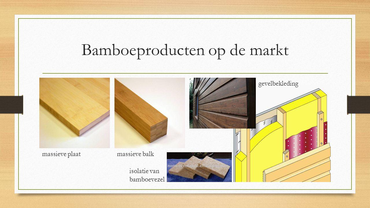 Bamboeproducten op de markt