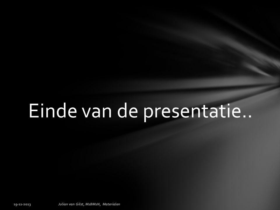 Einde van de presentatie..