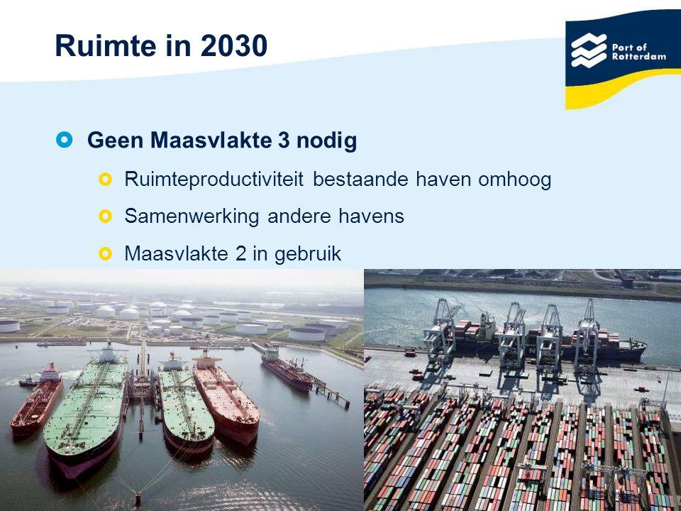 Ruimte in 2030 Geen Maasvlakte 3 nodig