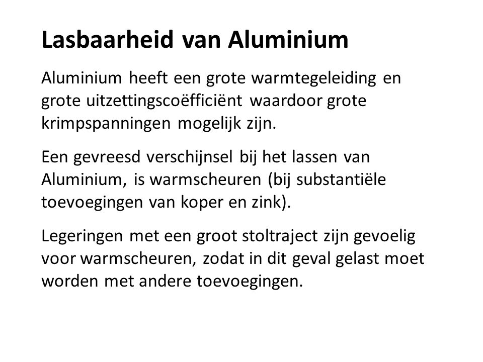 Lasbaarheid van Aluminium