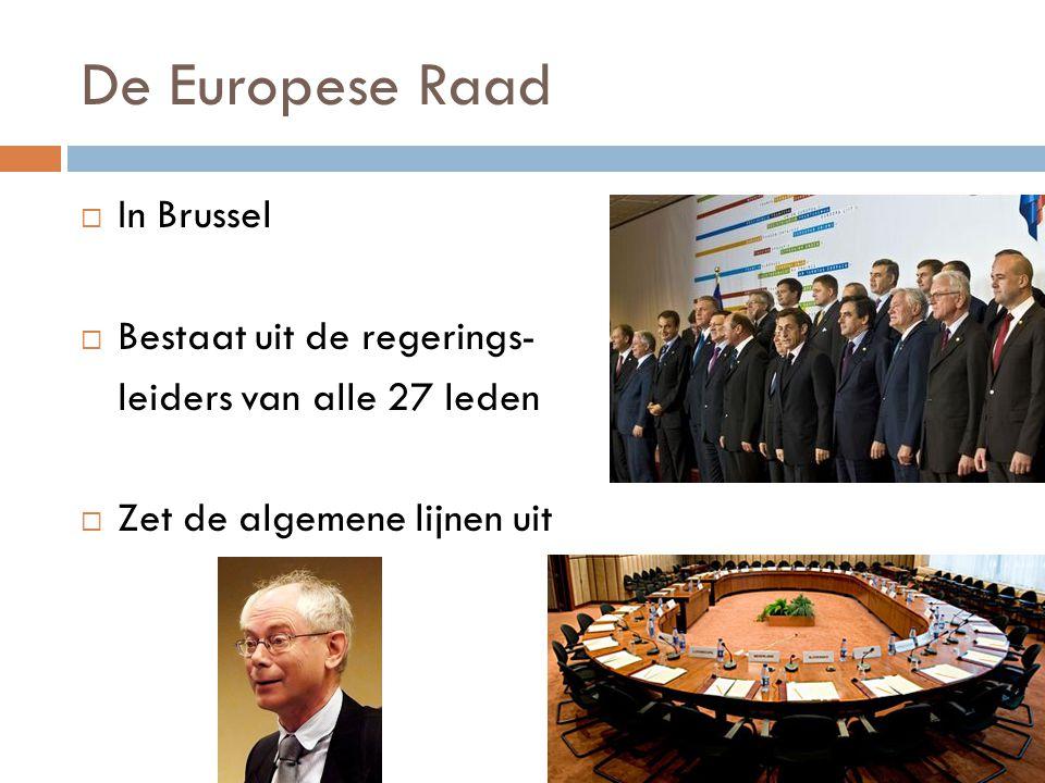 De Europese Raad In Brussel Bestaat uit de regerings-