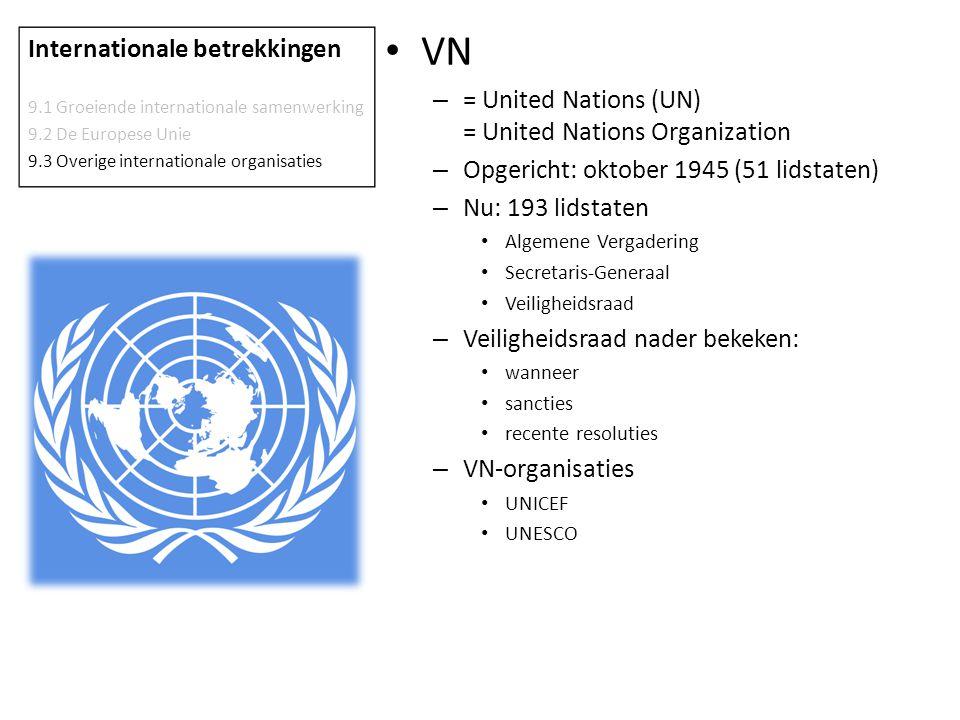 VN Internationale betrekkingen