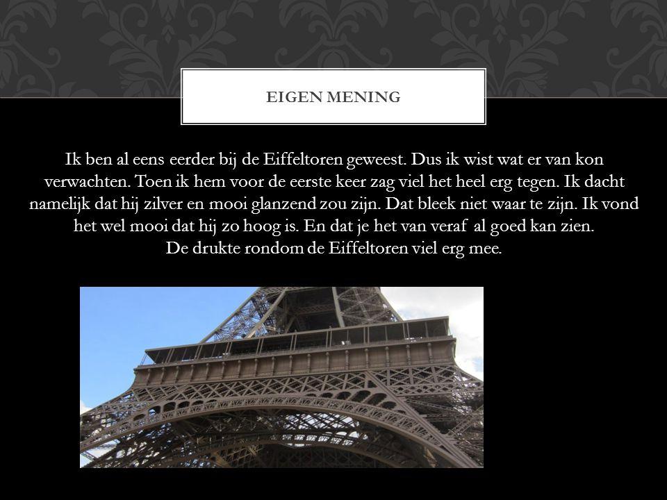 De drukte rondom de Eiffeltoren viel erg mee.