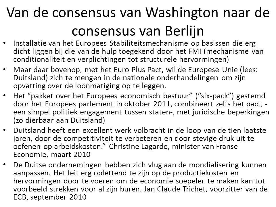 Van de consensus van Washington naar de consensus van Berlijn
