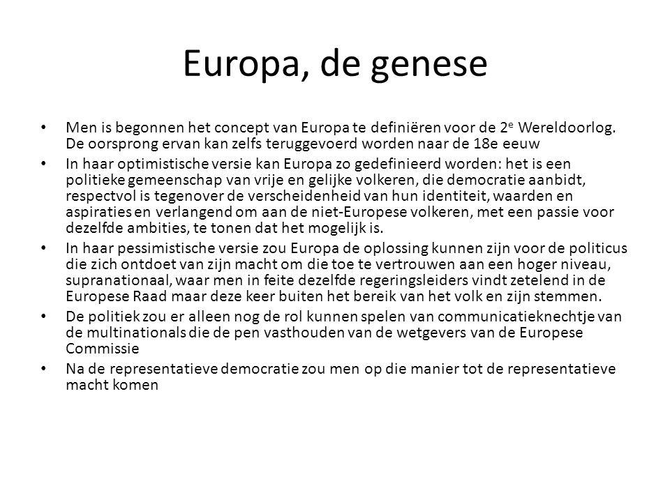 Europa, de genese