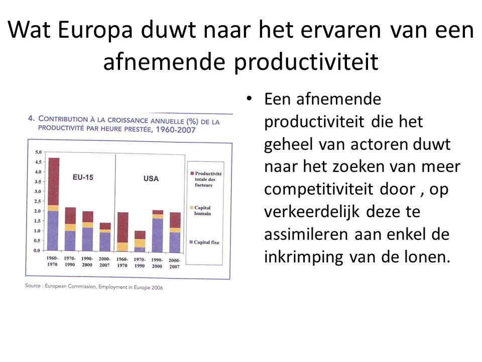 Wat Europa duwt naar het ervaren van een afnemende productiviteit
