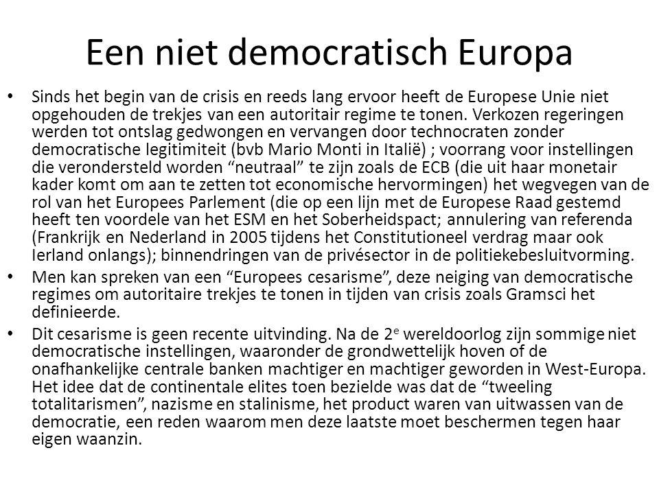 Een niet democratisch Europa