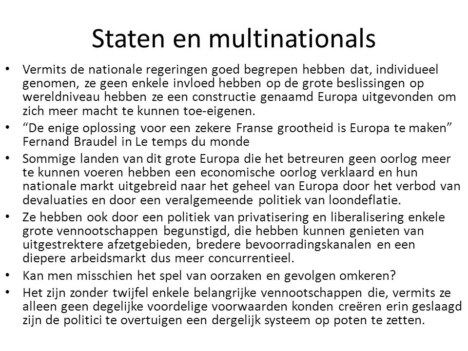 Staten en multinationals