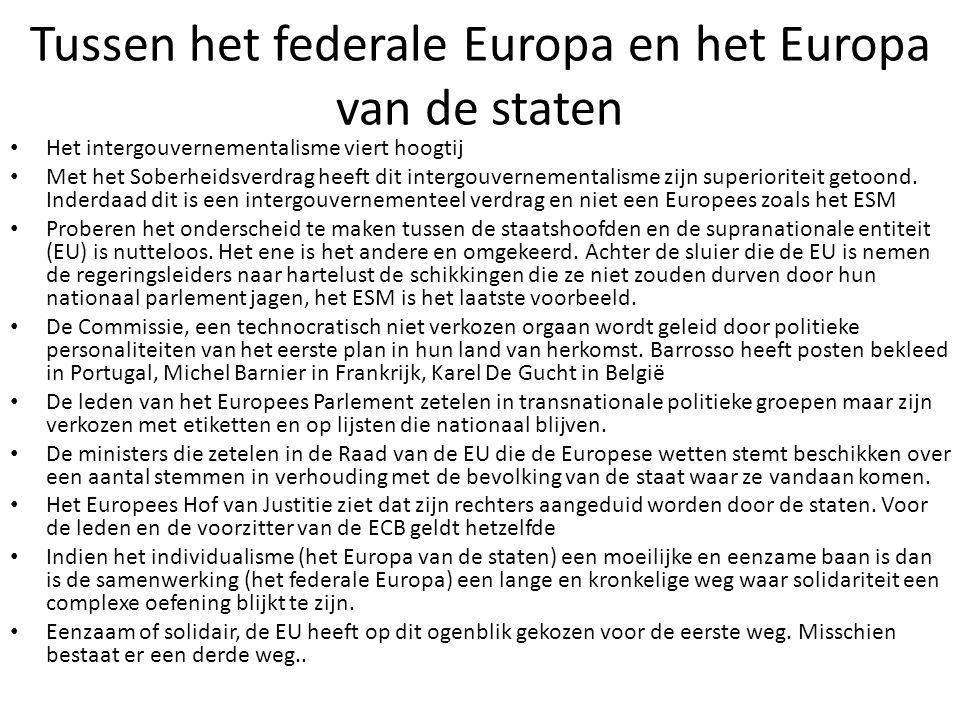 Tussen het federale Europa en het Europa van de staten