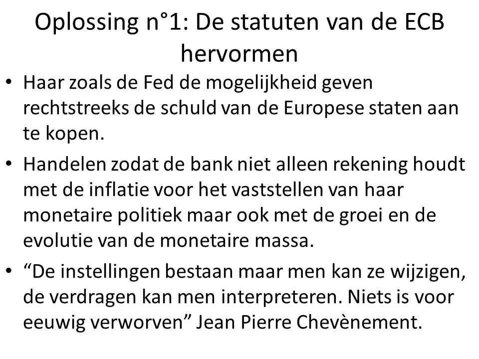 Oplossing n°1: De statuten van de ECB hervormen