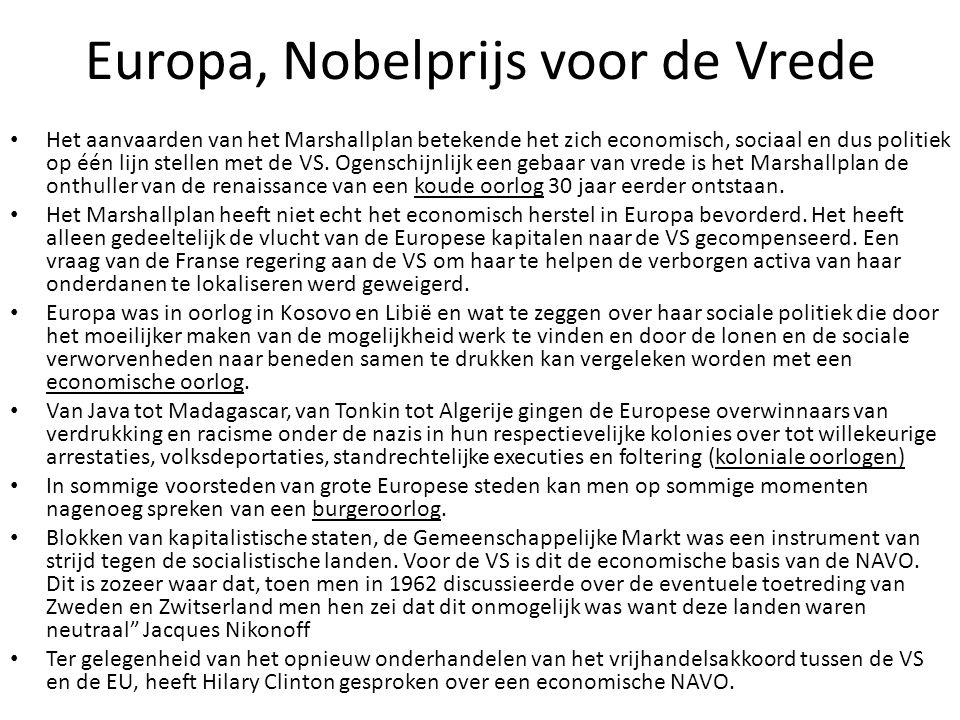 Europa, Nobelprijs voor de Vrede