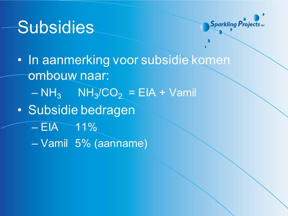 Subsidies In aanmerking voor subsidie komen ombouw naar: