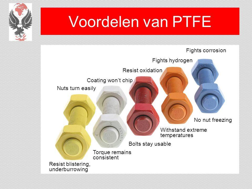 Voordelen van PTFE Fights corrosion Fights hydrogen Resist oxidation