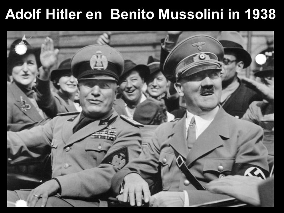 Adolf Hitler en Benito Mussolini in 1938