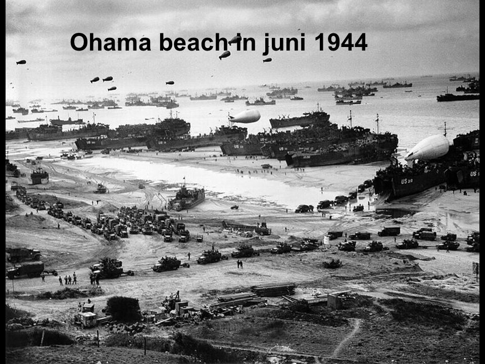 Ohama beach in juni 1944