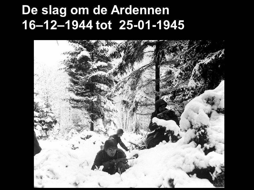 De slag om de Ardennen 16–12–1944 tot 25-01-1945