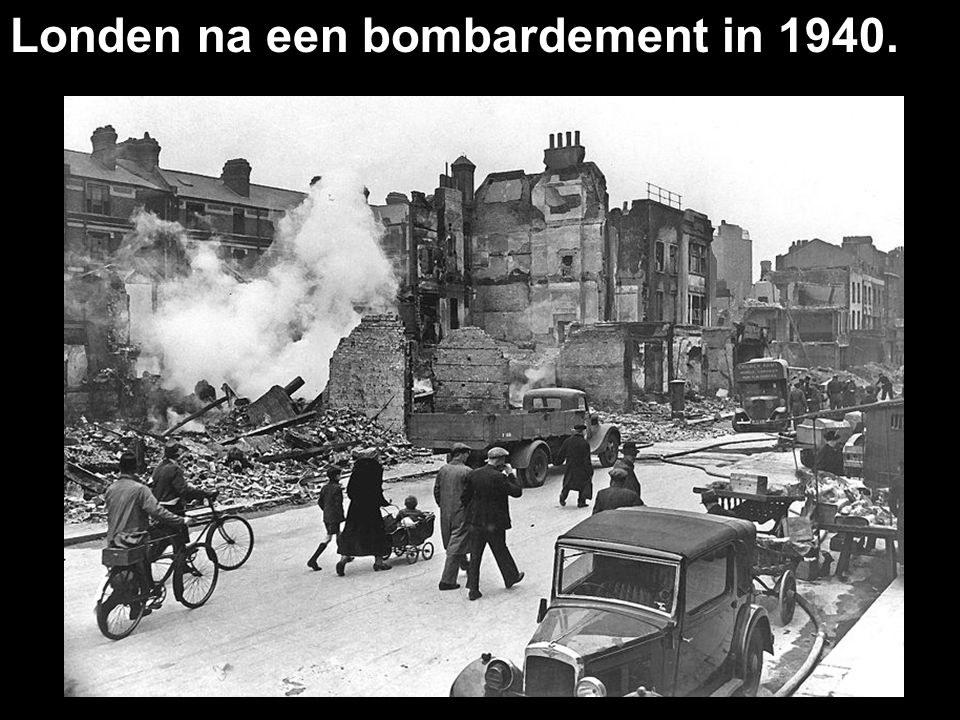 Londen na een bombardement in 1940.