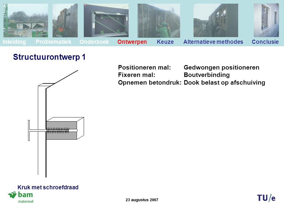 Structuurontwerp 1 Positioneren mal: Gedwongen positioneren