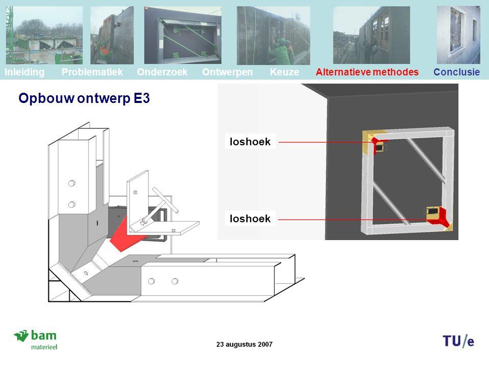 Opbouw ontwerp E3 loshoek loshoek