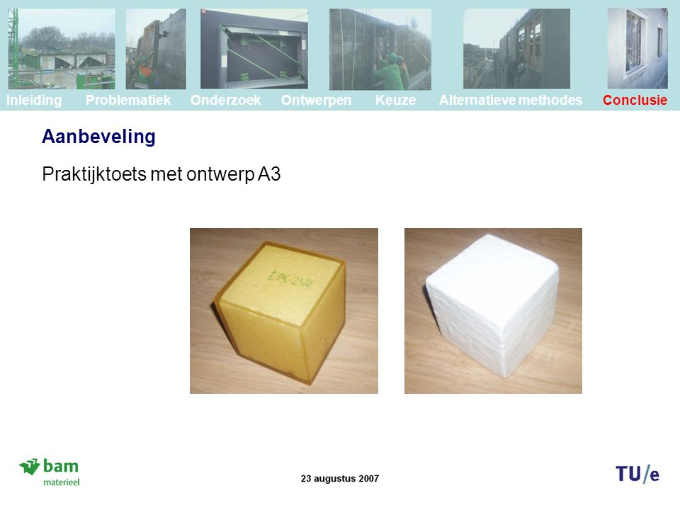 Praktijktoets met ontwerp A3