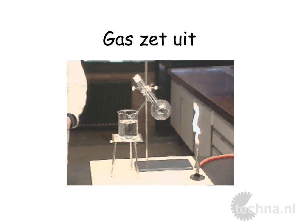 Gas zet uit