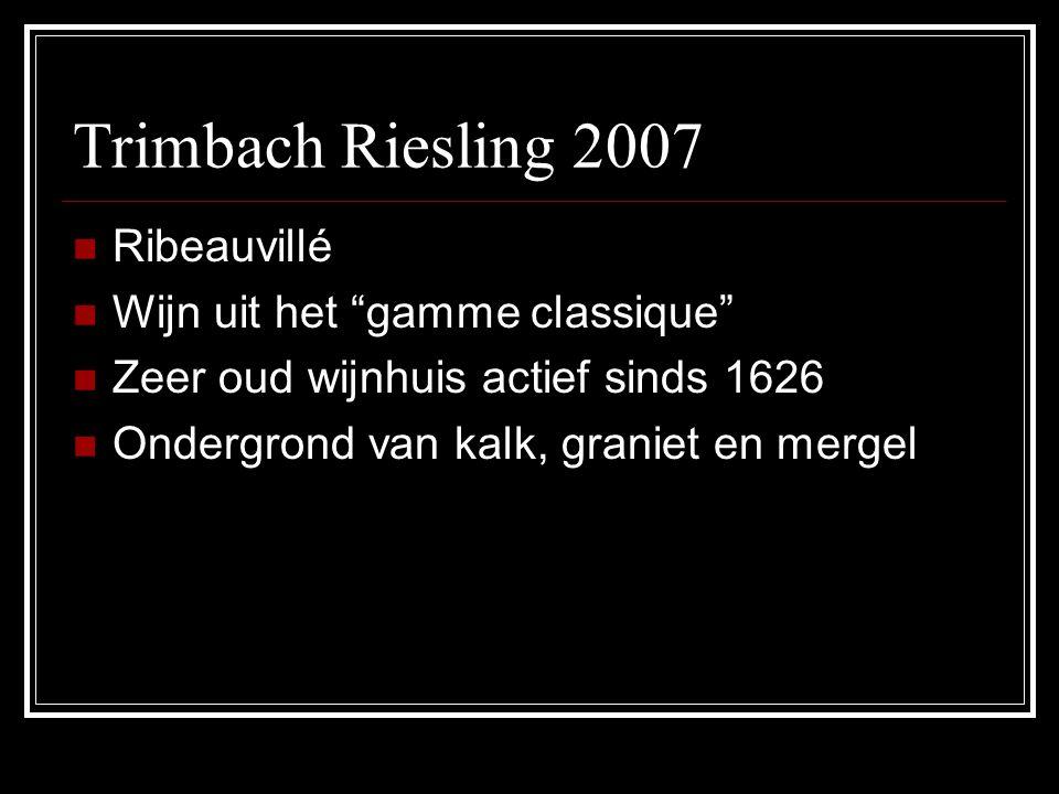 Trimbach Riesling 2007 Ribeauvillé Wijn uit het gamme classique