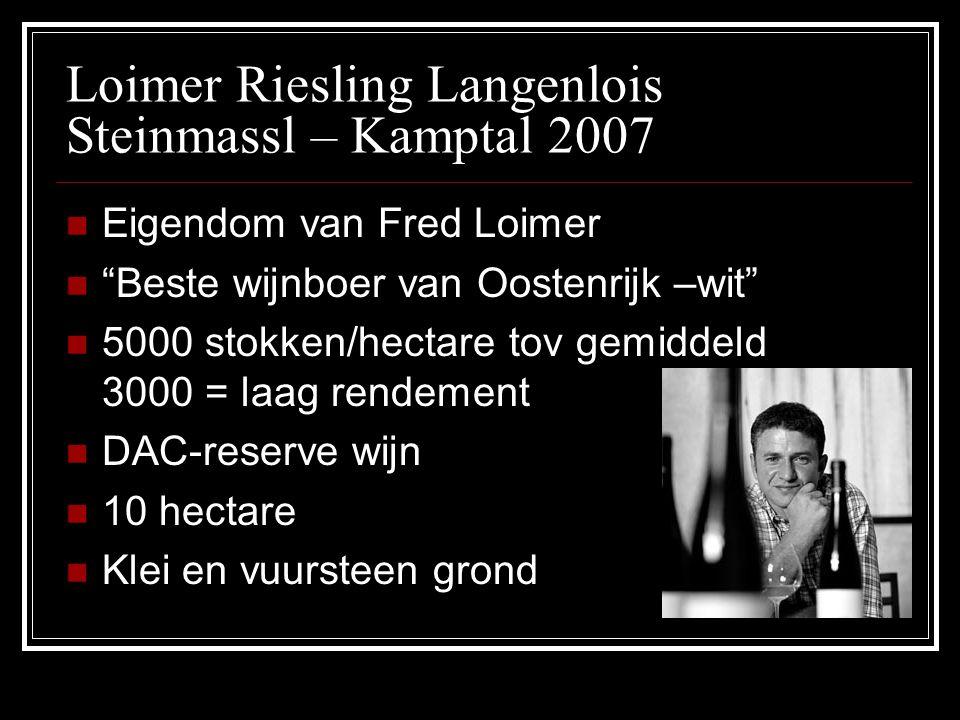 Loimer Riesling Langenlois Steinmassl – Kamptal 2007