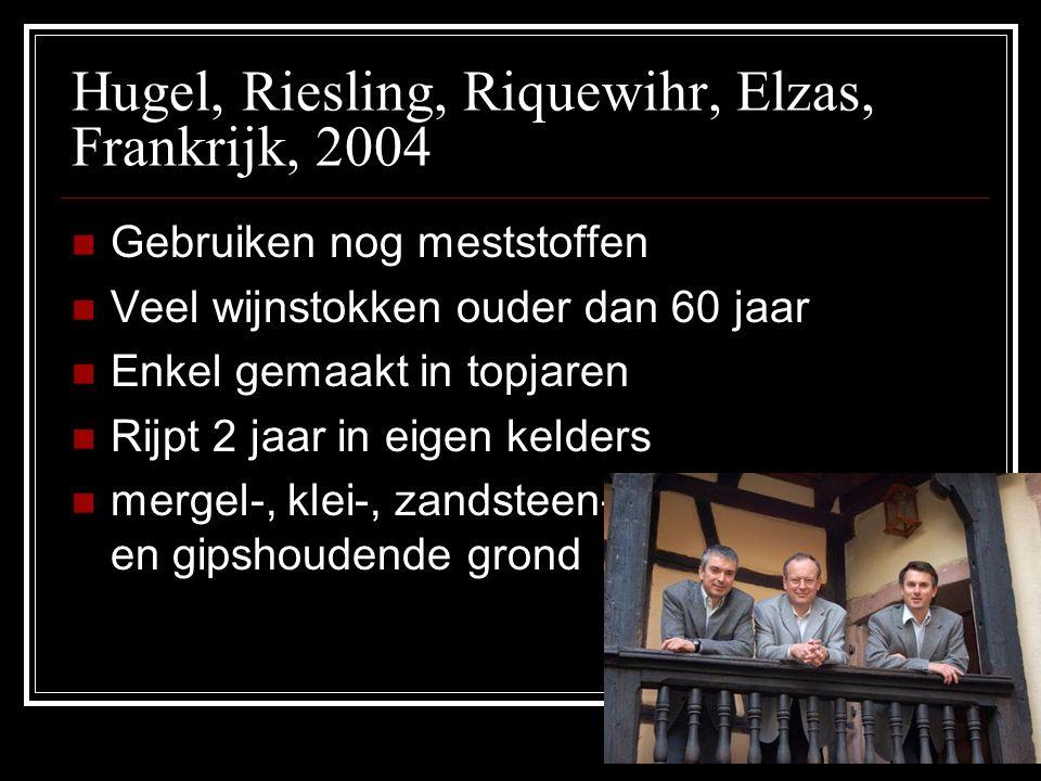 Hugel, Riesling, Riquewihr, Elzas, Frankrijk, 2004