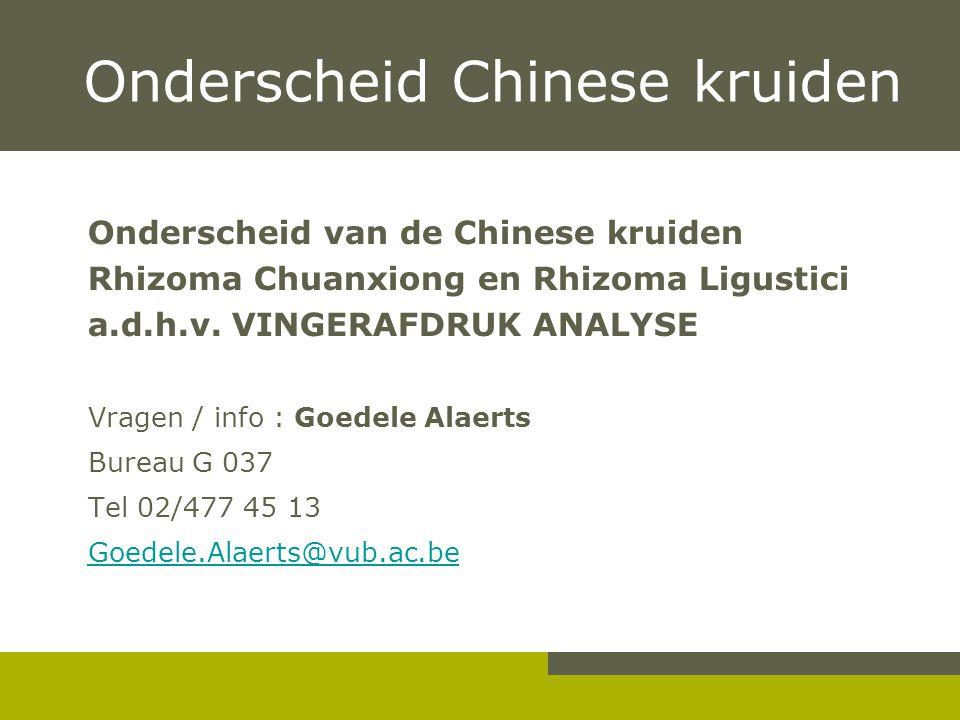 Onderscheid Chinese kruiden