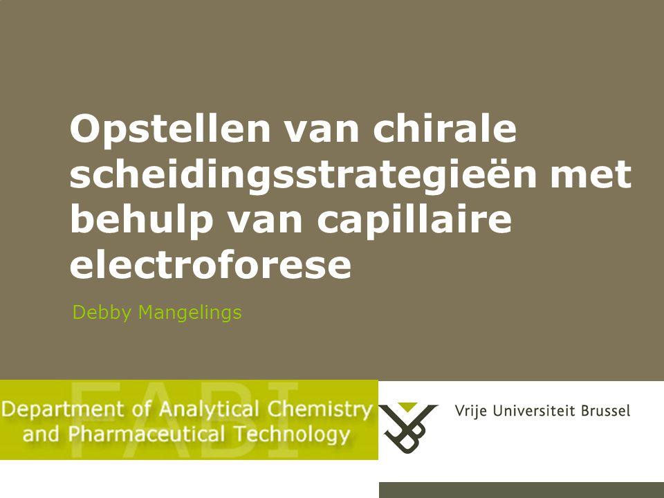 Opstellen van chirale scheidingsstrategieën met behulp van capillaire electroforese