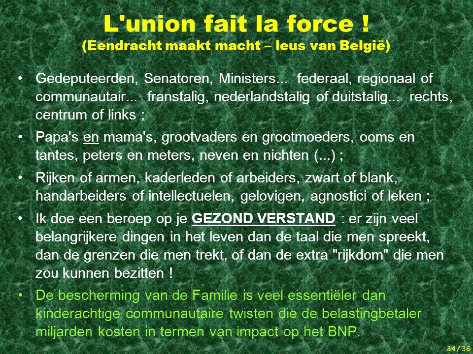 L union fait la force ! (Eendracht maakt macht – leus van België)