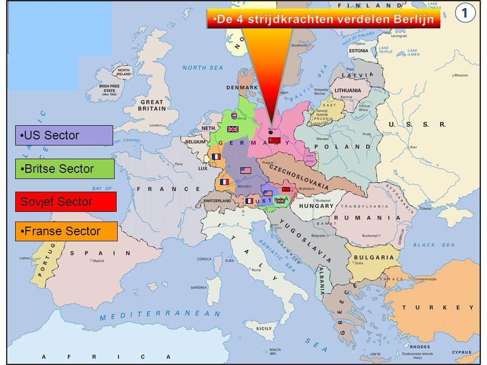 De 4 strijdkrachten verdelen Berlijn