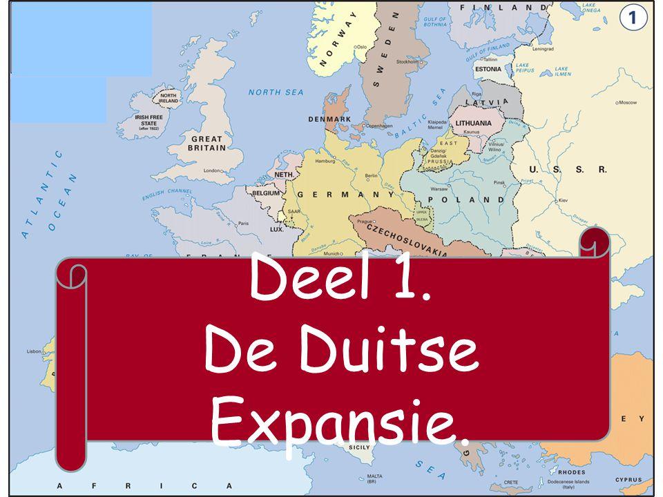 Deel 1. De Duitse Expansie.
