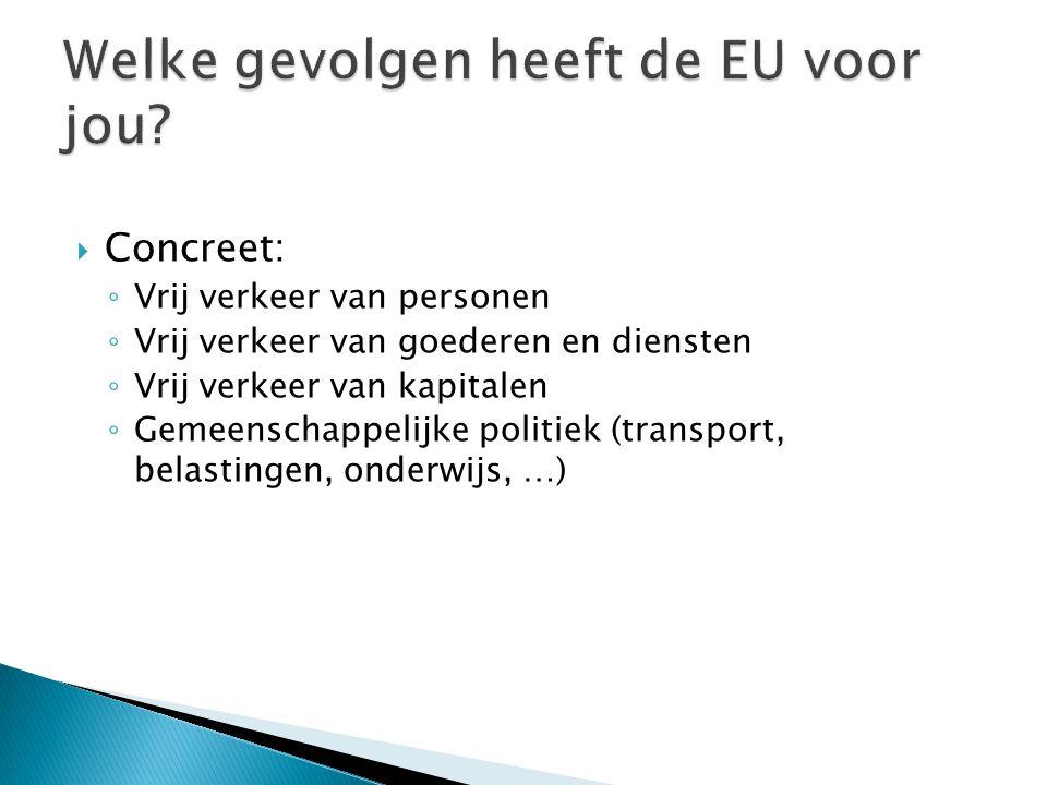 Welke gevolgen heeft de EU voor jou