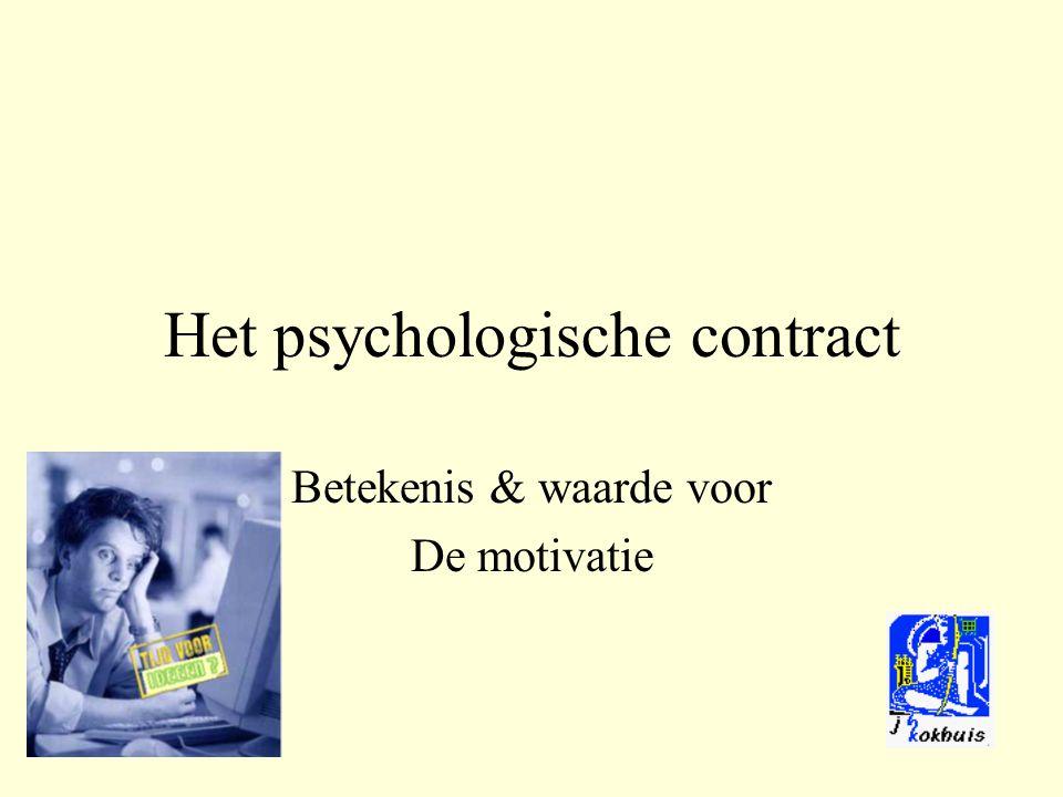 Het psychologische contract