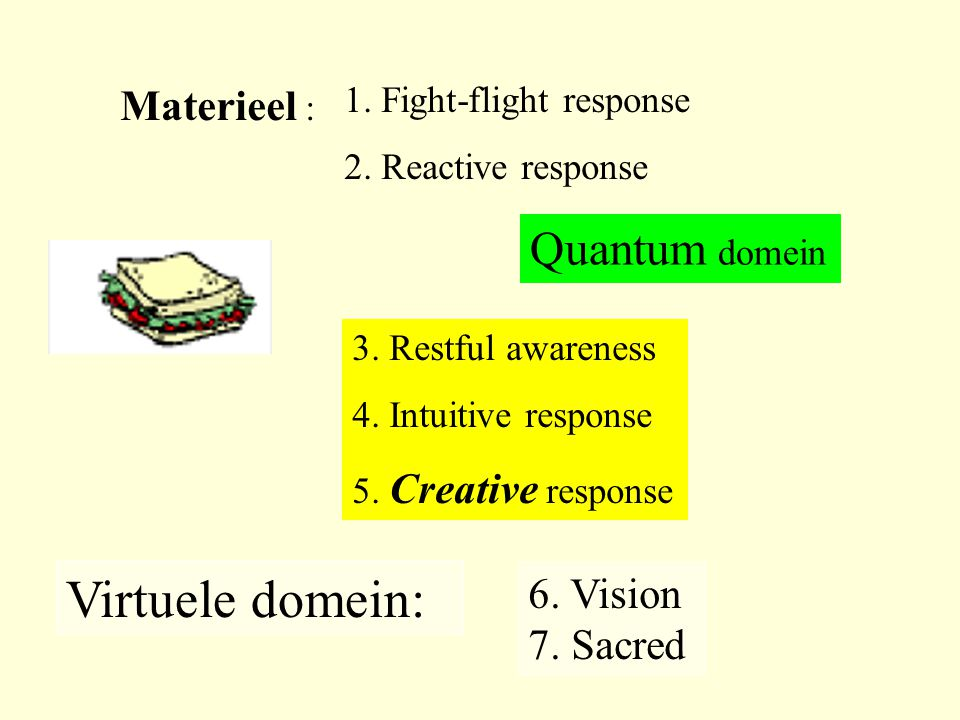 Virtuele domein: Quantum domein Materieel : 6. Vision 7. Sacred