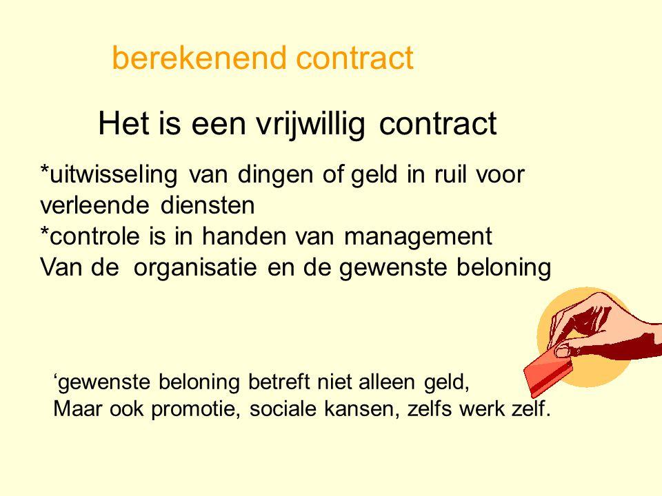 Het is een vrijwillig contract