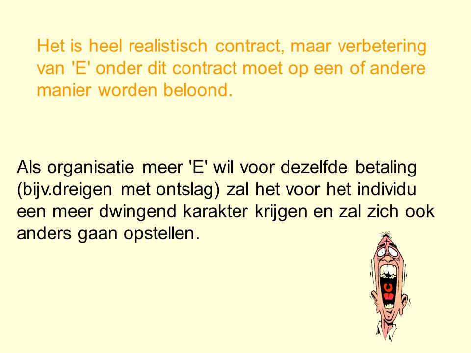 Het is heel realistisch contract, maar verbetering van E onder dit contract moet op een of andere manier worden beloond.