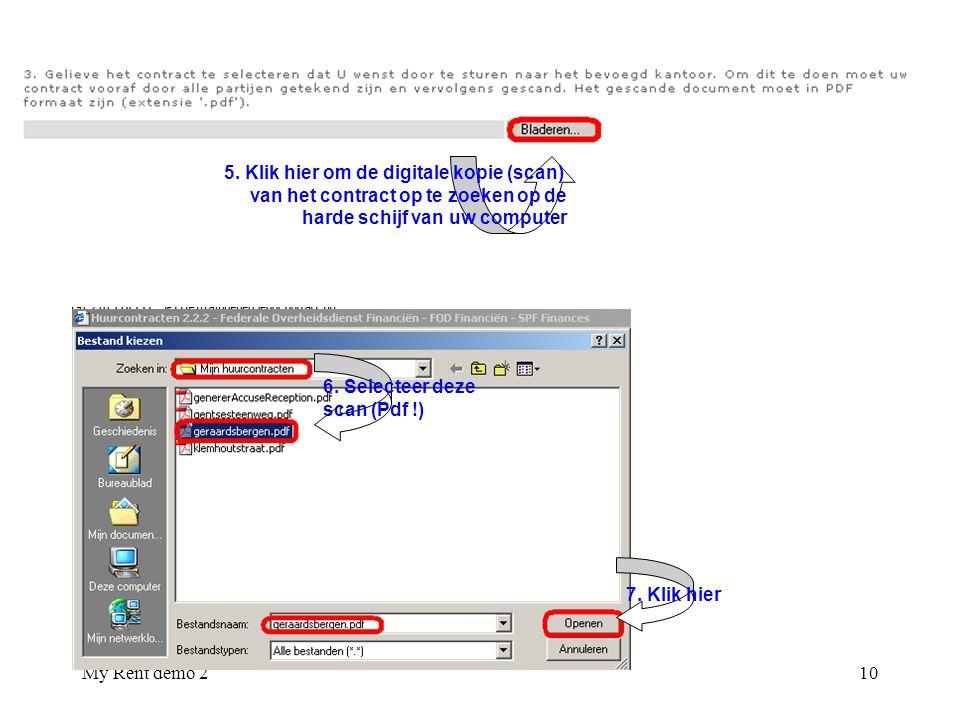5. Klik hier om de digitale kopie (scan)